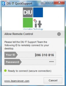 DIU IT Quick Support